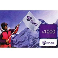 Ncell Recharge card 1000/-