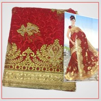Net Saree with Fancy Border